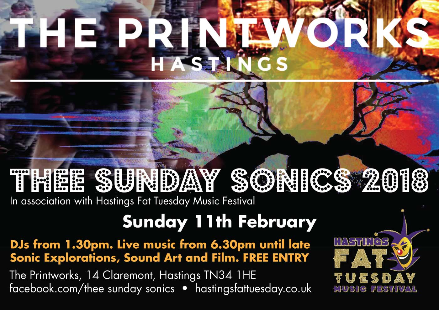 Poster design for Hastings Fat Tuesday event