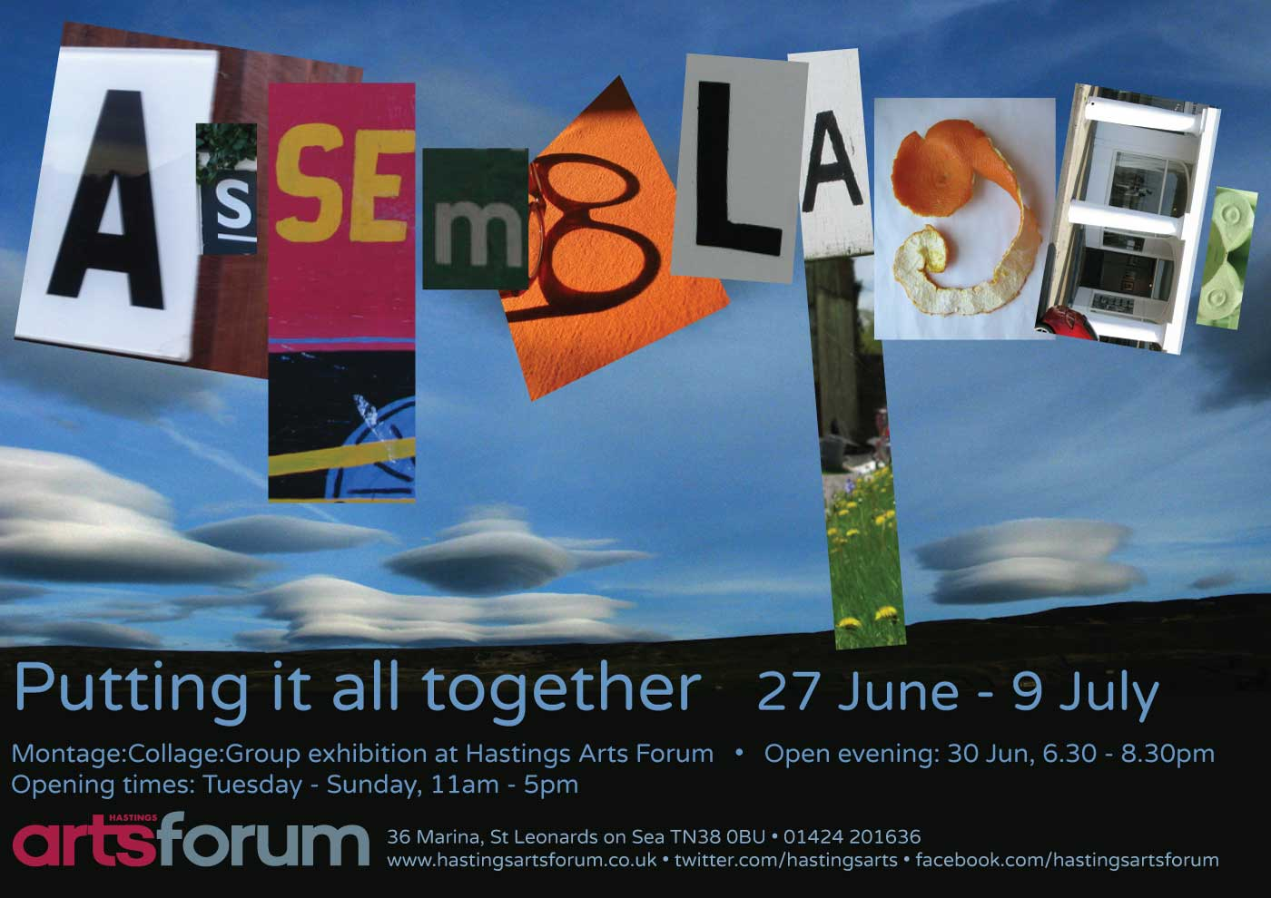 Poster and flyer design for Hastings Arts Forum